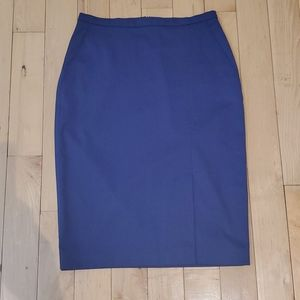 MaxMara Blue Pencil Skirt With Front Slit